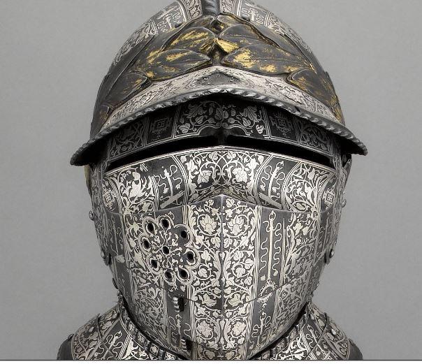 Casque Armure d'Henri II - Musée de l'Armée - Paris, les Invalides