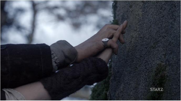 Claire Randall et Jamie Fraser à Craig na Dun Outlander