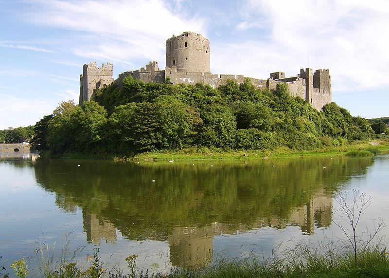 Chateau de Pembroke au Pays de Galles en Angleterre