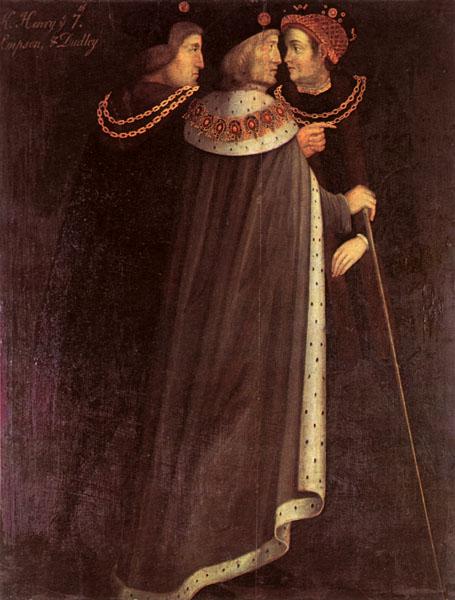The Duke of Rutland Collection - Henri VII entouré de ses conseillers financiers Edward Dudley et Richard Empson