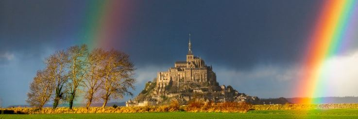 Mont Saint Michel arc en ciel