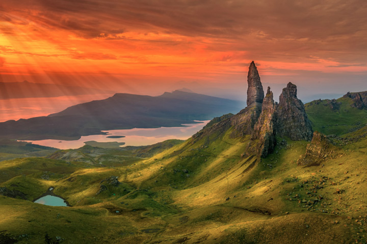 île de Skye -  chaîne de Storr