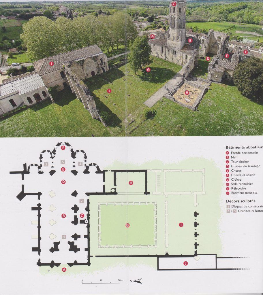 Plan abbaye de la Sauve Majeure