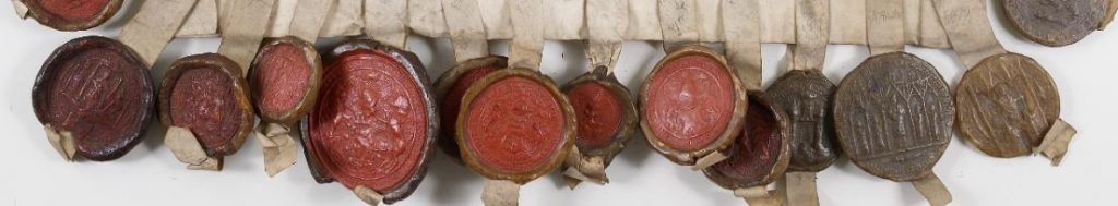 Détail des sceaux - procuration de Mariage de Marie Stuart