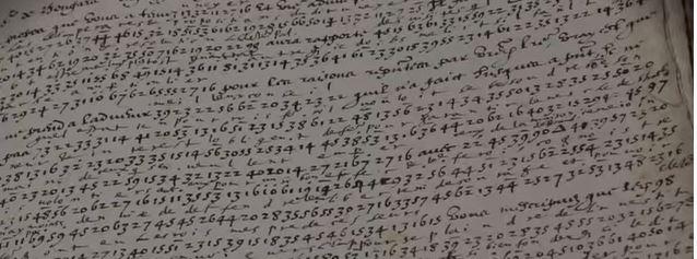 Extrait de lettre codée Henri IV