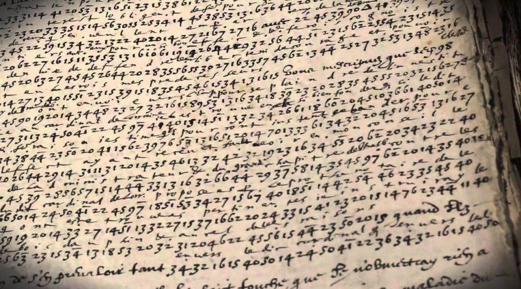 lettre chifrée Henri IV à Jacques Bongars