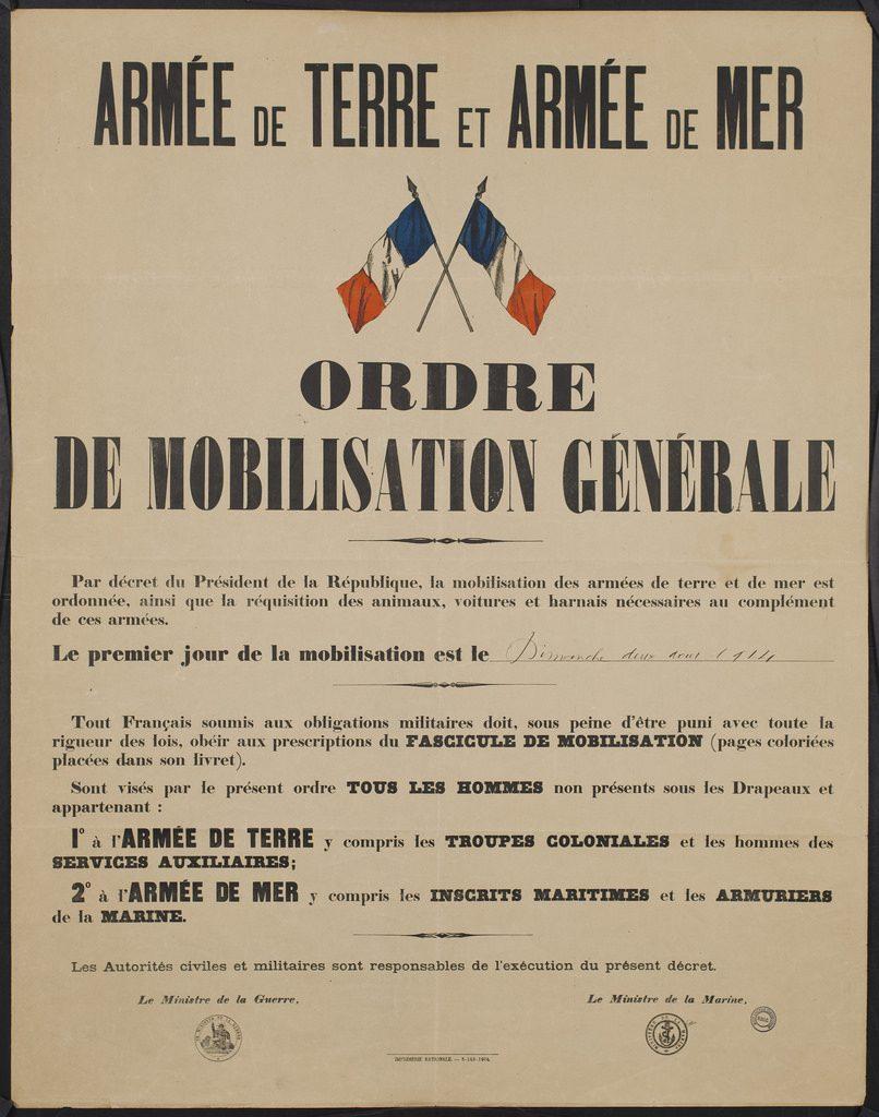 ordre de mobilisation generale