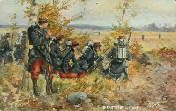 infanterie de ligne guerre  14 -18