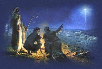 Les bergers voient l'étoile de la Nativité