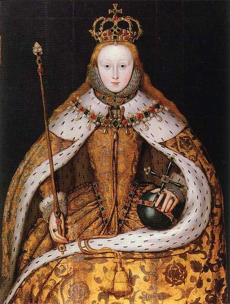 Elizabeth I ère- Portrait de couronnement - National Portrait Gallery