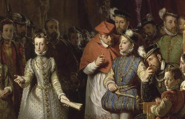 Marie Stuart et François II au Louvre 1556 Saint Evre Gillot XIXe siècle