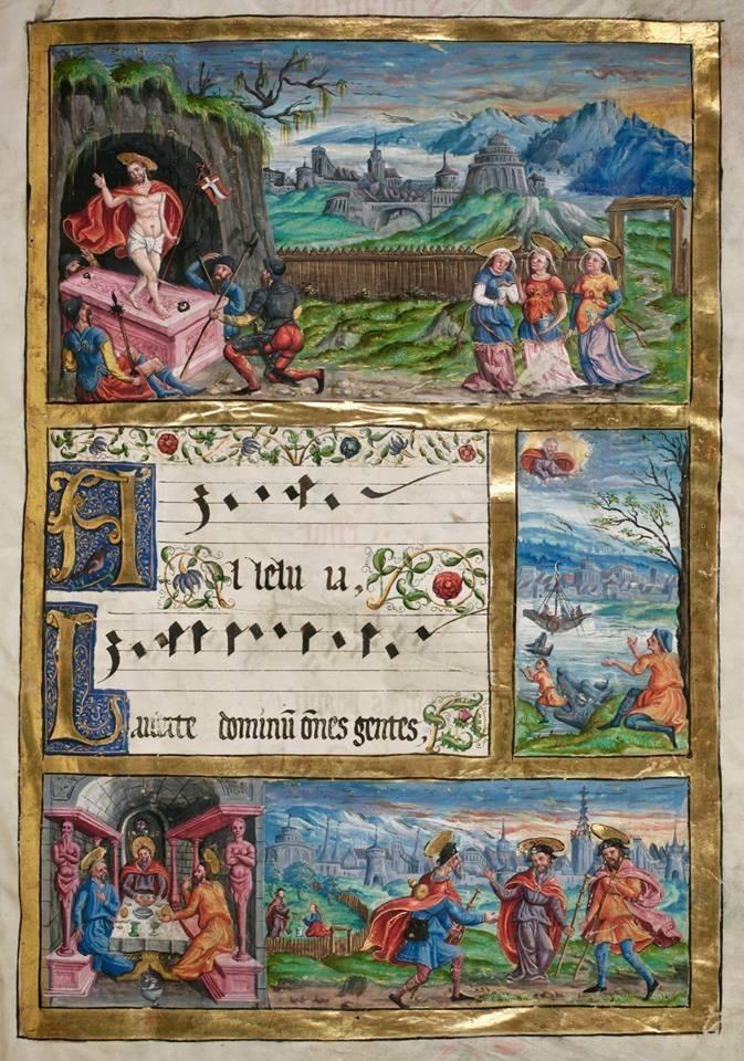 Page recueil de chants à 4 voix - 1562 - Härtli