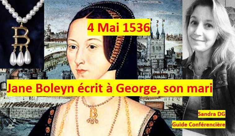 Jane Boleyn George Boleyn lettre