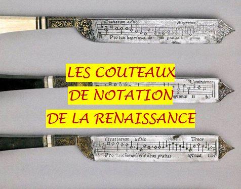 COUTEAUX RENAISSANCE